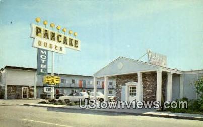 Queen Motel & Restaurant - Fresno, California CA Postcard