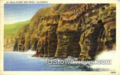 La Jolla Caves - San Diego, California CA Postcard