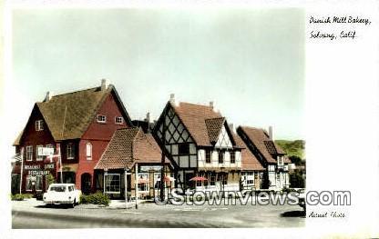 Danish Mill Bakery - Solvang, California CA Postcard