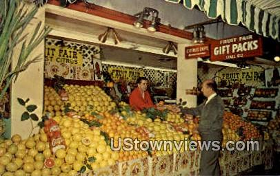Fruit Fair - Los Angeles, California CA Postcard