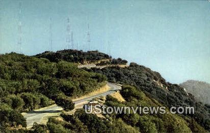 Television Transmitters - Los Angeles, California CA Postcard