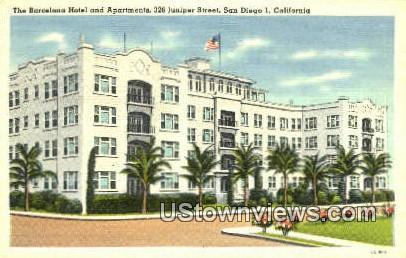 Barcelona Hotel - San Diego, California CA Postcard