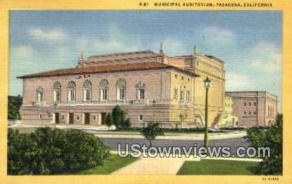 Municipal Aud - Pasadena, California CA Postcard