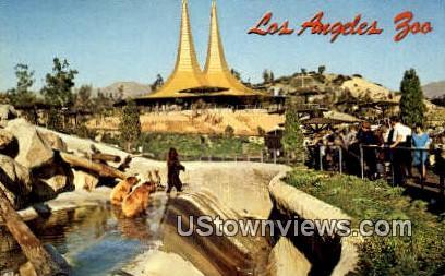 Los Angeles Zoo - California CA Postcard