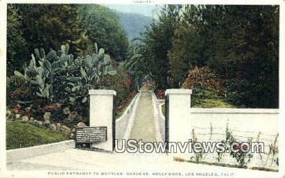 Wattles gardens - Los Angeles, California CA Postcard