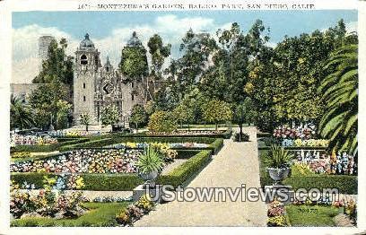 Montezuma's Garden, Balboa Park - San Diego, California CA Postcard