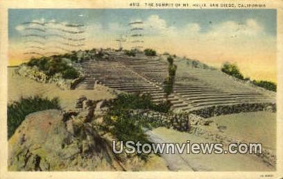 The Summit, Mt. Helix - San Diego, California CA Postcard