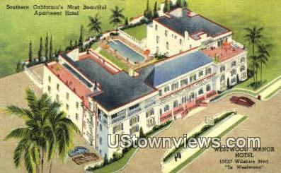 Westwood Manor Hotel - Los Angeles, California CA Postcard