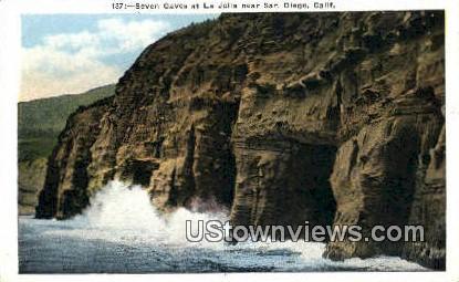 Seven Caves - San Diego, California CA Postcard