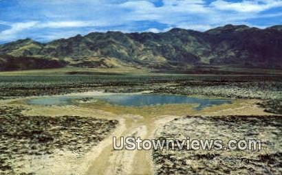 Salt Pools - Death Valley, California CA Postcard