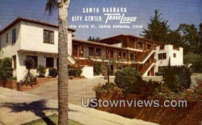 Santa Barbara City Travelodge - California CA Postcard