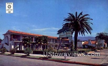 Ocean Palms Motor Lodge - Santa Barbara, California CA Postcard