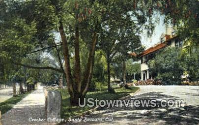Crocker Cottage - Santa Barbara, California CA Postcard