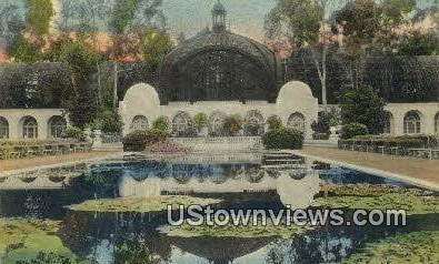 Tropical Plant Bldg - San Diego, California CA Postcard