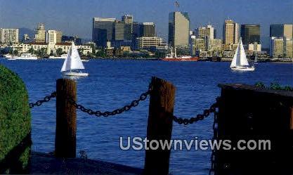 Harbor Island - San Diego, California CA Postcard