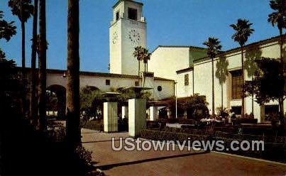 South Patio, Union Station - Los Angeles, California CA Postcard