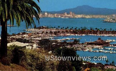 San Diego Bay - California CA Postcard