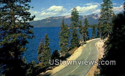 Sierra Mountains - Lake Tahoe, California CA Postcard