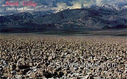Devil's Golf Course - Death Valley, California CA Postcard