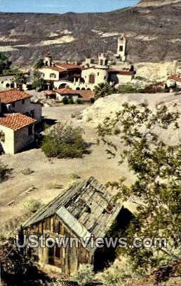 Death Valley Scotty's - California CA Postcard