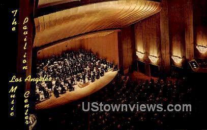 Music Center, Pavilion - Los Angeles, California CA Postcard
