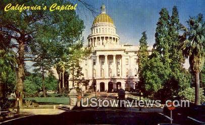 State Capital - Sacramento, California CA Postcard