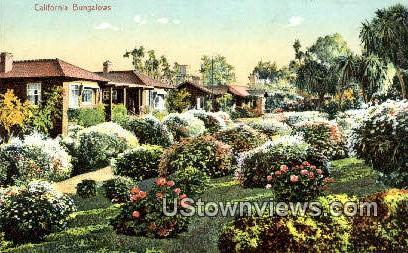 Bungalows - MIsc, California CA Postcard