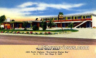 Trade Wind Motel - San Diego, California CA Postcard