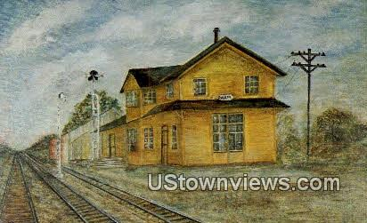 Old Goleta Depot - Santa Barbara, California CA Postcard