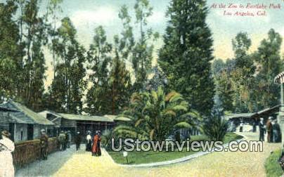 Zoo, Eastlake Park - Los Angeles, California CA Postcard
