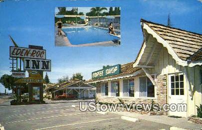 Eden Roc Inn - Bakersfield, California CA Postcard