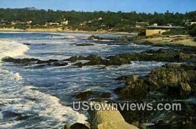 Carmel Beach - Carmel by the Sea, California CA Postcard