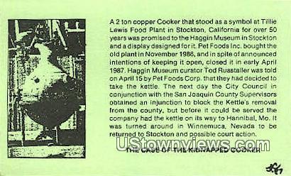 Stockton - California CA Postcard