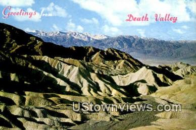 Greetings from - Death Valley, California CA Postcard