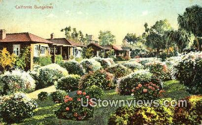 Bungalows - MIsc, California CA Postcard