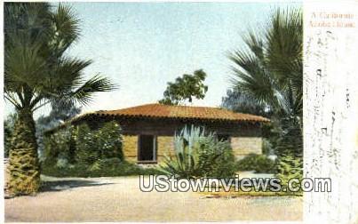 Adobe House - Pasadena, California CA Postcard
