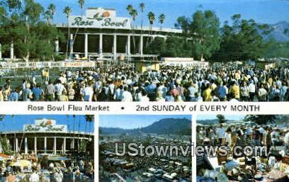 Rose Bowl Flea Market - Pasadena, California CA Postcard