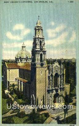 St. Vincent's Cathedral - Los Angeles, California CA Postcard