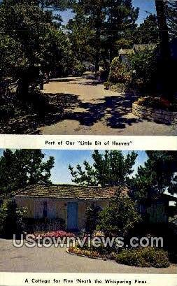 Carmel Cottage Court - Carmel by the Sea, California CA Postcard