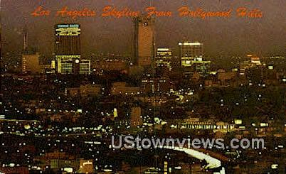 Hollywood Hills - Los Angeles, California CA Postcard