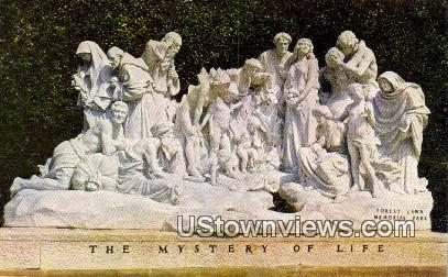 The Mystery of Life - Glendale, California CA Postcard