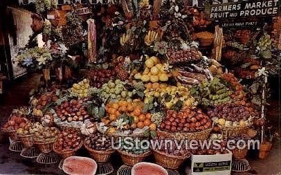 Farmers Market - Los Angeles, California CA Postcard