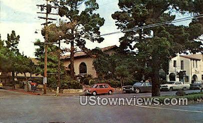 Harrison Memorial Library - Carmel by the Sea, California CA Postcard
