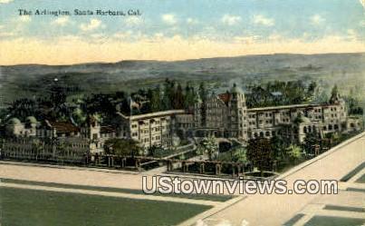 The Arlington - Santa Barbara, California CA Postcard