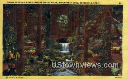 Brookdale Lodge - California CA Postcard