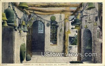 Garden of the Bells, Mission Inn - Riverside, California CA Postcard