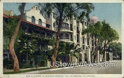 Cloister, Glenwood Mission Inn - Riverside, California CA Postcard
