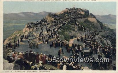 Junipero Serra's Memorial Cross - Riverside, California CA Postcard