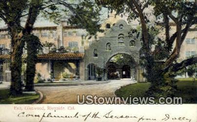 Exit, Glenwood - Riverside, California CA Postcard