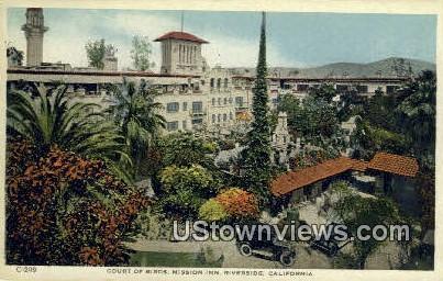 Court of Birds, Mission Inn - Riverside, California CA Postcard